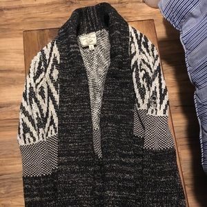 Lucky Brand wool cardigan with shawl collar